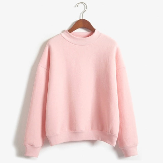 Wholesale M-XXL Cute Women Hoodies Pullover 9 colors 2017 Autumn Coat Winter Loose Fleece Thick Knit Sweatshirt Female-cigauy