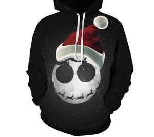 2017 Newest 3D Print Christmas Halloween Skull Theme Pullover Hoodies for Women/men Causal Loose Plus Size Sweatshirts Femme-cigauy