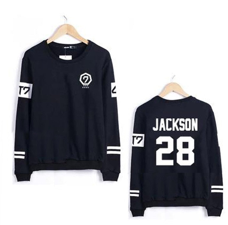 Got7 Kpop Harajuku Hoodies And Sweatshirt Women Couple Clothes Hip Hop Letters Print Hoodie Sudaderas Mujer Never Ever-cigauy