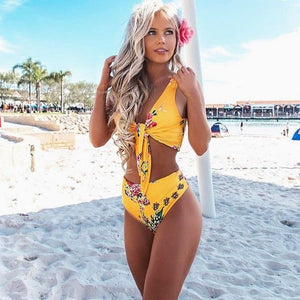 High Waist Swimsuit 2018 New Sexy Print Bikinis Women Swimwear Push Up Bathing Suit Swim Summer Beach Wear Brazilian Bikini Set-cigauy
