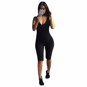 2018 Rompers Womens Jumpsuit Overalls Bodysuit Combinaison Femme Sexy Skinny Sleeveless Backless Bodycon Jumpsuit Women Playsuit-cigauy