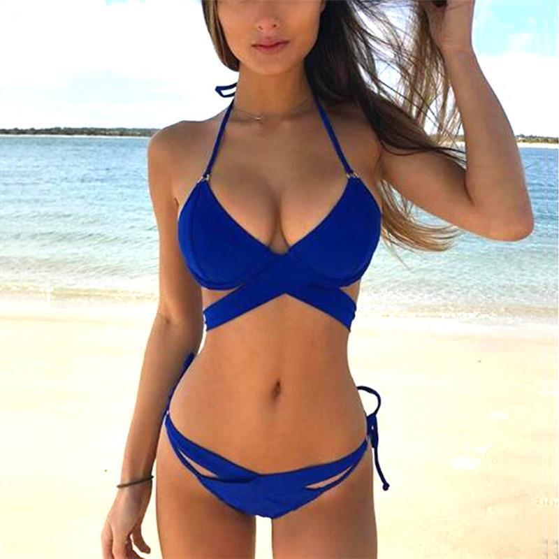 Swimwear Female Women 2018 New Hot Sexy Pacthwork Bikini Set Women Push up Vintage Swimwear Brazilian Swimsuit Beachwear Biquini-cigauy