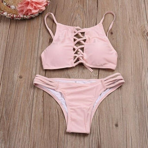 Hot 2017 Summer Beach Wearing Bathing Bikini Suit Ocean Style Sexy Bikini Set Swimsuit Women Girl Sweet Swimwear-cigauy
