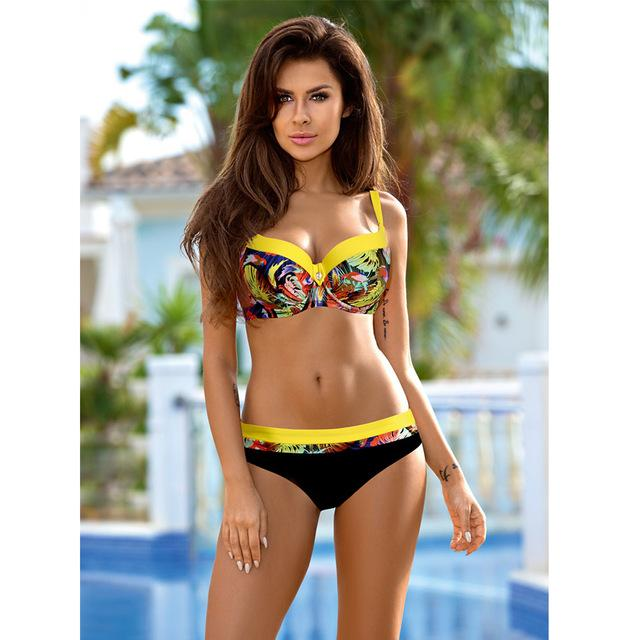 TQSKK Push Up Bikini Set Swimwear Women Swimsuit Female Summer New Sexy 2018 Bikinis Solid Beach Swim Wear Bathing Suits Biquini-cigauy