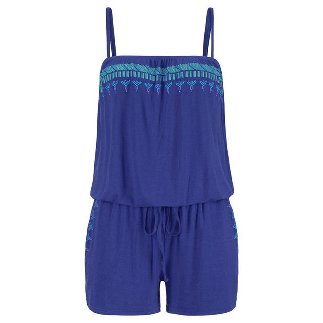 2017 New Fashion Elegant Womens Holiday Casual Mini Playsuit Ladies Jumpsuit Summer Beach Rompers Hot Sale July0720-cigauy