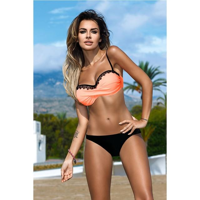 Raintropical 2018 New Push Up Bikini Set Swimwear Women Swimsuit Female Summer Sexy Bikinis Beach Swim Wear Bathing Suit Biquini-cigauy