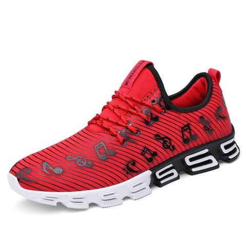 a2f049c7ef27 Joomra New Listing Men s Runing Shoes Stripe Music Note Outdoor Sport Shoes  New Design S sole