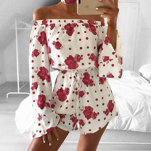 Women Jumpsuit Romper Short Print Macacao Feminino Overalls Bodysuit Casual Clothes Playsuit Female Sexy Fashion Summer Clothing-cigauy