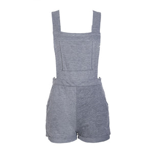 Hot Women Ladies Summer Party Sleeveless Gray Cotton Bodysuit Size S M L XL-cigauy