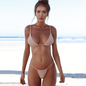Micro Bikini 2018 Swimsuit Female Swimwear Women Bandage Sexy White Thong Brazilian Bikinis Set Beach Wear Bathing Suits Biquini-cigauy