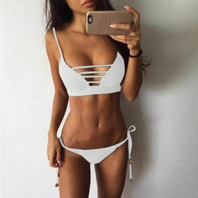 POPFAVOR Bikinis Set Solid Swimsuit Women Bikini 2018 New Push Up Bra Bandage Swimsuit Thong Bottom Brazilian Female Swimwear-cigauy