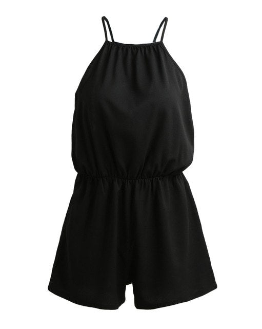 Summer Style Rompers Women Jumpsuit Sexy strapless Bodysuit Sleeveless Playsuit Casual Solid Short Overall Elegant Black Catsuit-cigauy