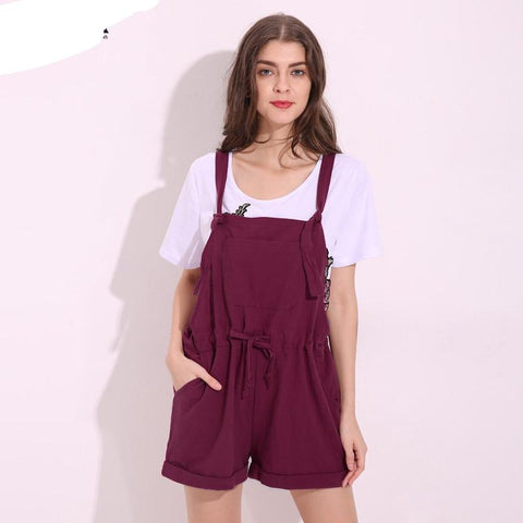 aadeac674e3 ZANZEA 2018 New Summer Rompers Womens Jumpsuits Solid Strap Overalls Casual  Pockets Loose Short Playsuits Plus