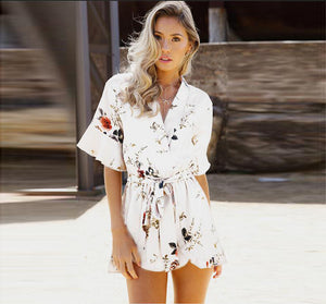 2018 Casual Playsuit Steetwear Short Overalls Tops Macacao Feminino Jumpsuit Ladies Casual Summer Beach Rompers Clothes Women-cigauy