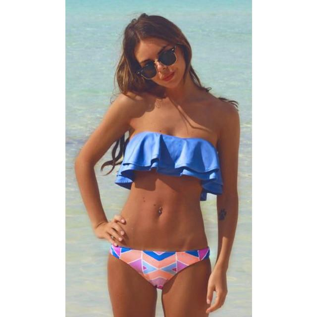 SAMEGAME Sexy Bikinis Women Swimsuit 2018 New Brazilian Bikini Set Push Up Swimwear Bandage Halter Top Beach Bathing Suits Swim-cigauy