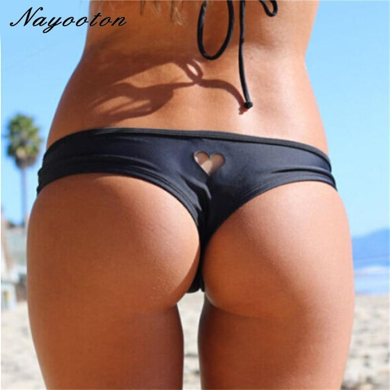 2018 new Heart T-Back Beachwear Bikini Bottom Swimwear bottom thong sexy mini string swimwear bikini swimsuit for women biquini-cigauy