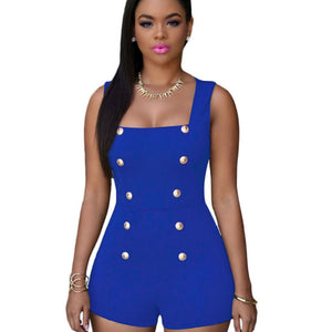 2018 sexy club party sleeveless solid skinny bodycon women plus size Overalls for female Summer Slim Elegant Sexy Beach playsuit-cigauy