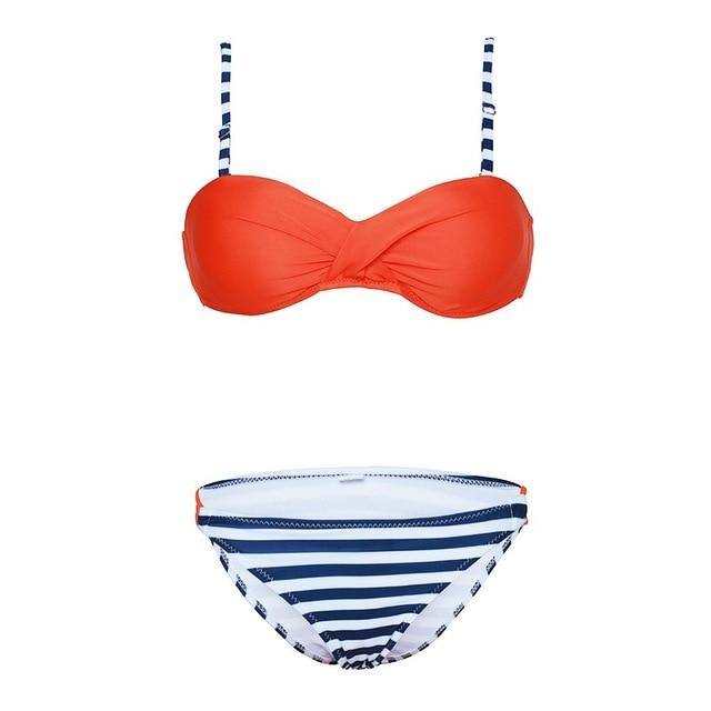 Woman Bikini 2018 compile rope Swimwear Women Candy Colors Swimsuit Bathing Suit Bikini Set Swimwear Female Brazilian Biquini-cigauy