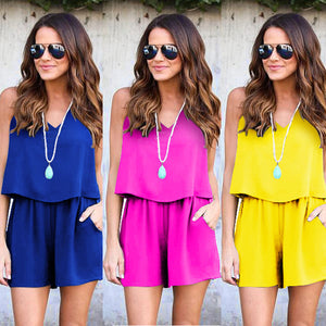 2018 NEW Hot Women Summer Beach Jumpsuit Chiffon Backless Jumpsuit Backless Romper Trousers 6 Colors-cigauy