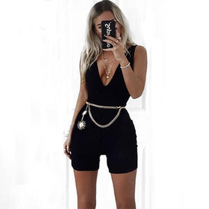 NewAsia Plunge Cotton Jumpsuit Plus size Sexy Bodysuit Women Playsuit Body Feminino Overalls Ladies Rompers Womens Jumpsuit 2018-cigauy