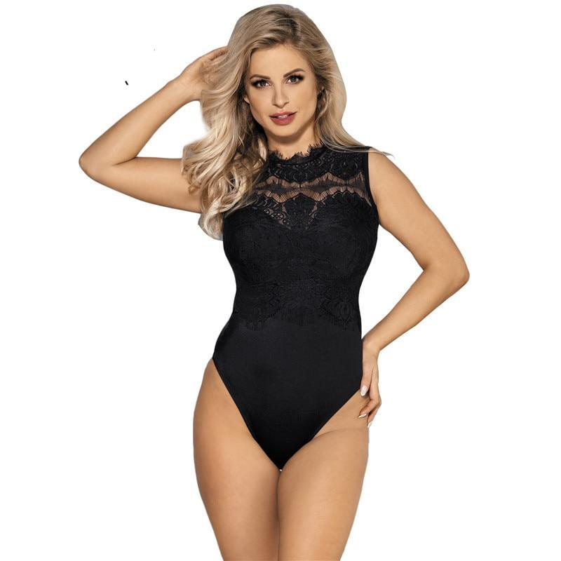 High quality lace bodysuit sleeveless slim elegant overalls sexy rompers women jumpsuit plus size body femino bodysuits RE80472-cigauy