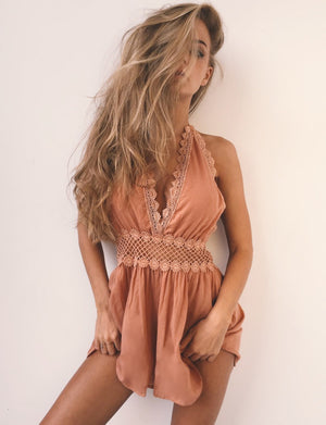 2018 Summer Elegant Sexy Reveal Back Lace Split Joint Lace Bodysuit Jumpsuit Sexy For Women Jumpsuits &rompers Ltk01-cigauy