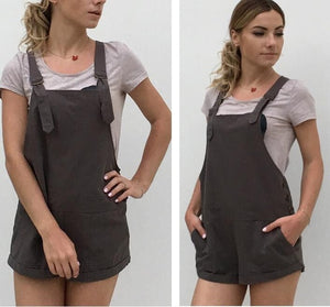 2018 New Sexy Jumpsuit Romper Women Summer Overalls Casual Short Playsuits Distressed Details Slim Dungarees Femme Catsuit-cigauy