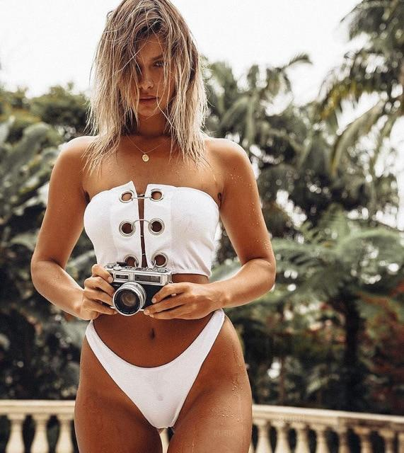 Bikini 2018 Buttons Swimwear Women Sexy Biquini Bikinis Women's Swimsuits Bathing Swimming Suit Biquinis Maillot De Bain Femme-cigauy