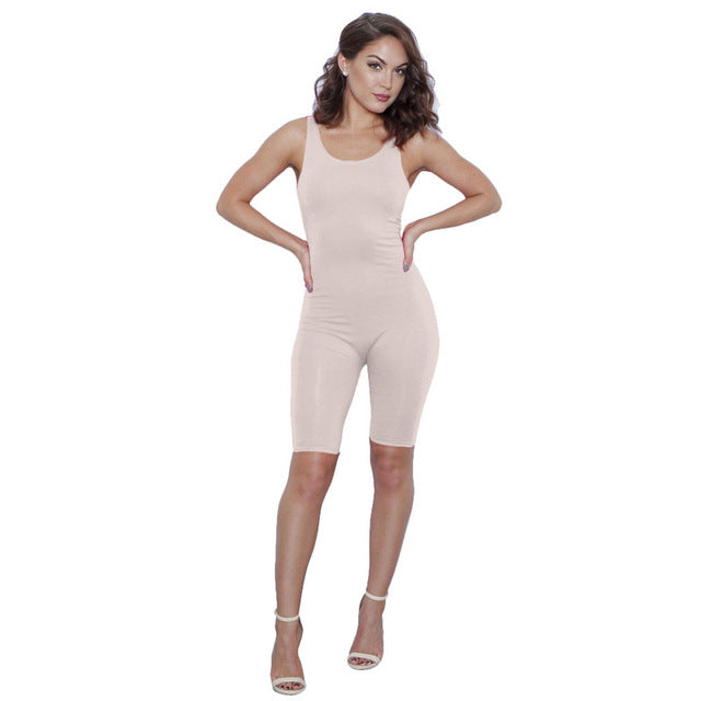 2017 Summer Sexy Short Jumpsuits for Women White Red Black bodycon jumpsuit Sleeveless One Piece Jumpsuit Romper Women Bodysuit-cigauy