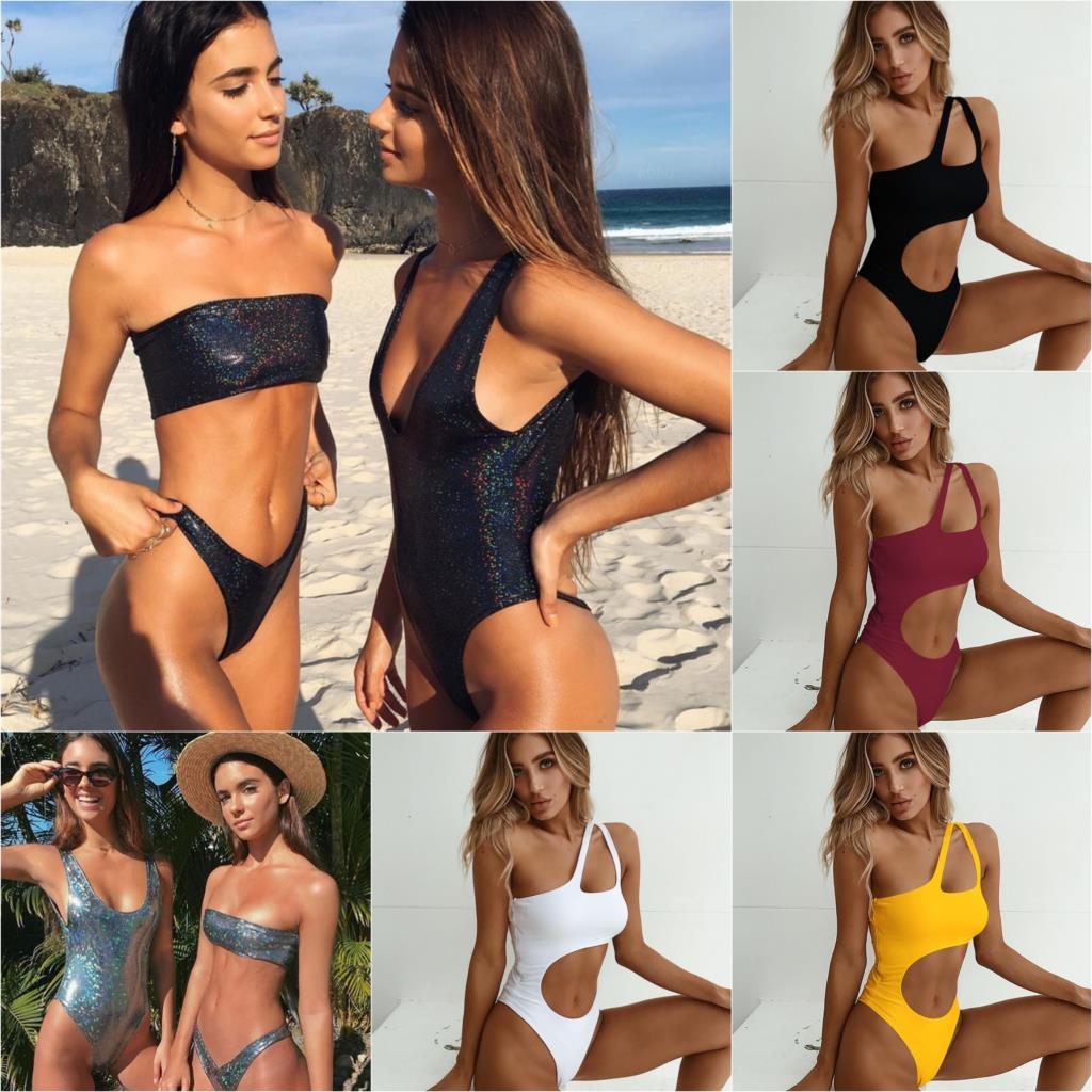 Bikini 2018 Bikinis Women Sexy Swimsuit Brazilian Bikini Set Biquini Sequins Shiny Bathing Suit Swimwear biquini Maillot De Bain-cigauy