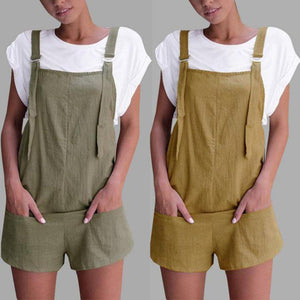 2018 summer womens romper Loose Dungarees Loose Rompers Jumpsuit Shorts Pants Trousers mamelucos womens jumpsuit x3065-cigauy