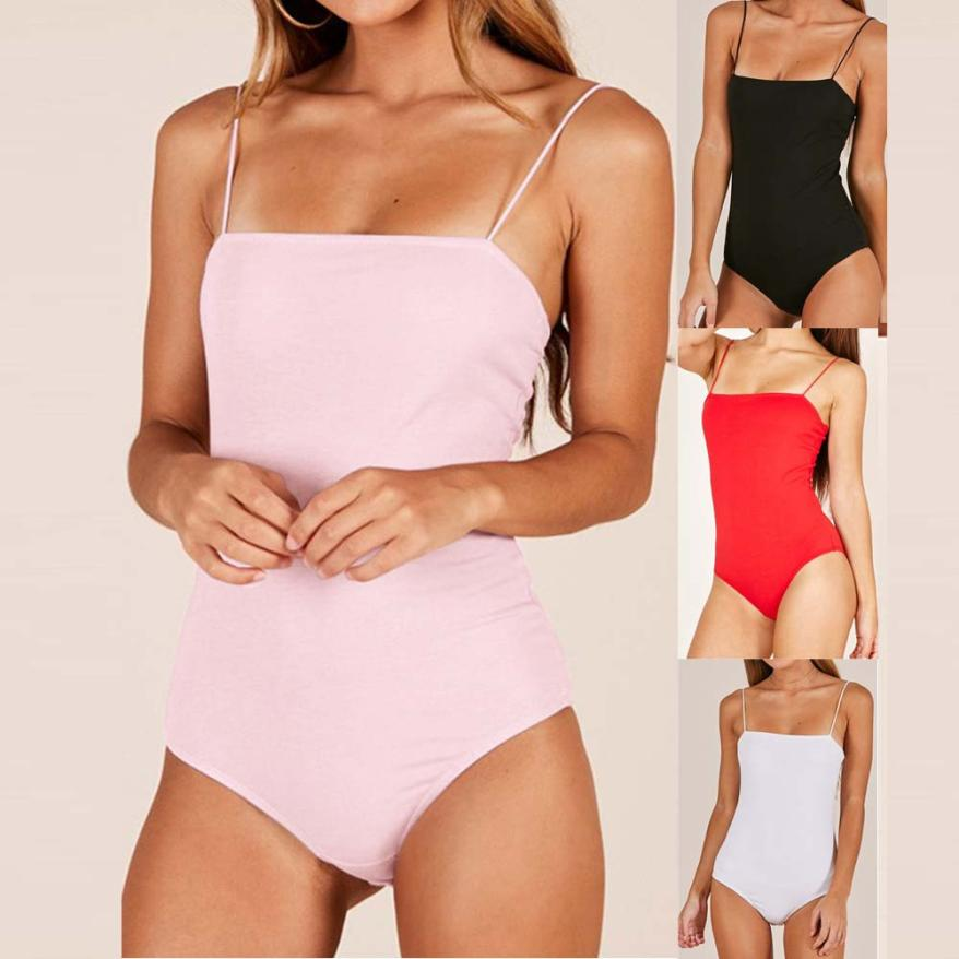 2018 summer womens romper Camisole Fashion Blackless Sexy Bodycon Sleeveless Jumpsuit womens summer romper bodysuit x3067-cigauy