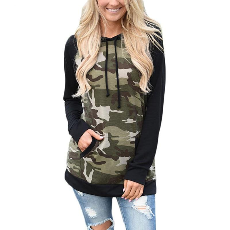 chesmono Army Green Camouflage Hoodies 2018 Winter women Camo Fleece Pullover Hooded Sweatshirts Hip Hop Swag Cotton Streetwear-cigauy