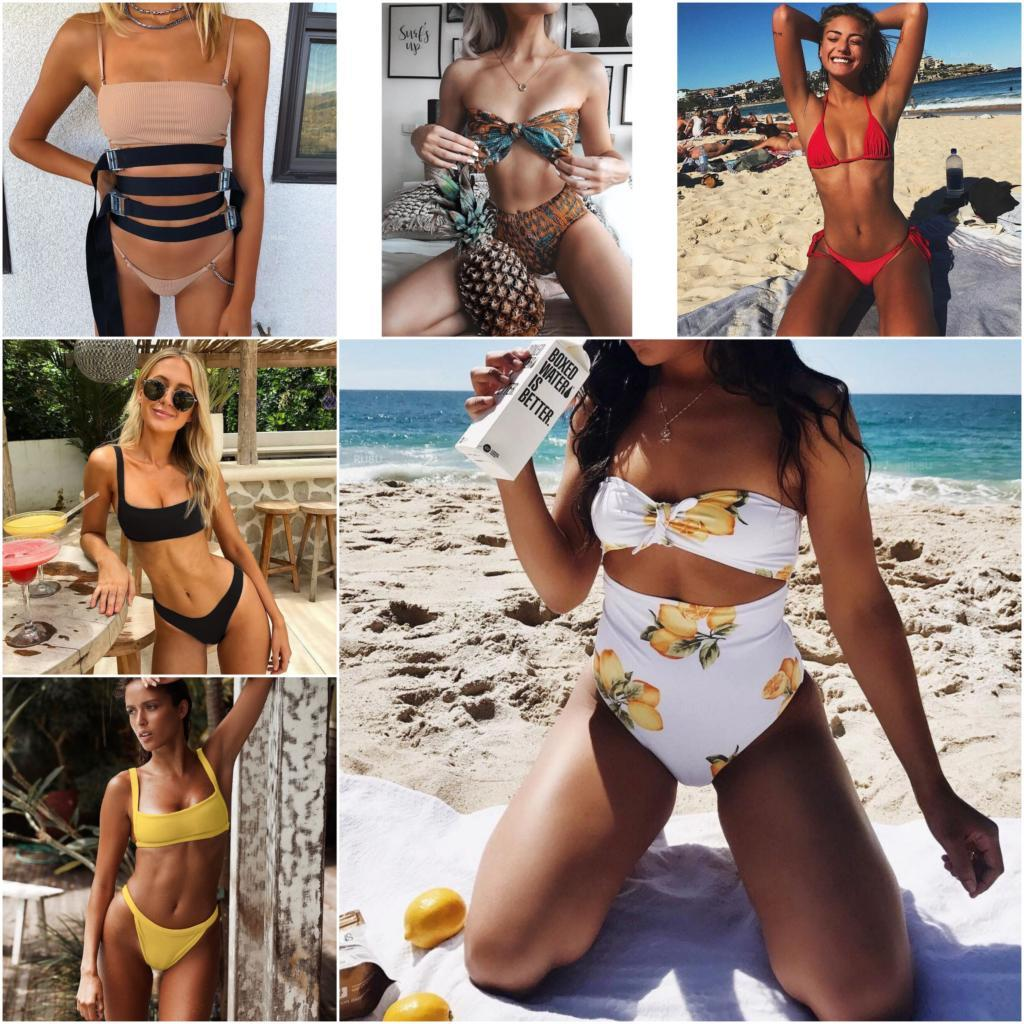 Bikini 2018 Newest Printed Swimwear Women Swimsuit Sexy Biquini Bikinis Maillot De Bain Femme Bikini Set Bathing Suit Push Up-cigauy