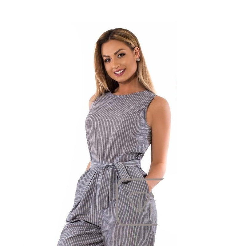 5XL 6XL plus size jumpsuits for women 2018 summer rompers womens jumpsuit shorts playsuit striped overalls combinaison femme-cigauy