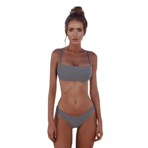 Hot sale bikinis Women Bandeau Bandage Bikini Set Push-Up Brazilian Swimsuit Swimwear women biquini bikini 2018 costumi da bagno-cigauy