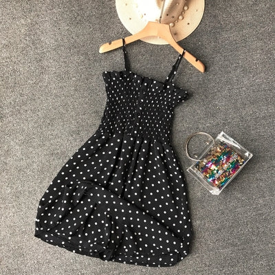 ALPHALMODA Summer Women Casual Playsuits Polka Dot Plaids Printed Female Summer Casual Vocation Rompers-cigauy