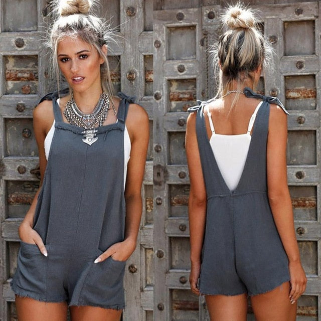 2018 summer womens jumpsuit romper Straps Jumpsuits Overalls Shorts Pants summer bodysuit Romper short womens jumpsuit x30618-cigauy