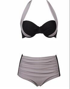 2018 New Swimwear Spell Color Split Female Sexy Swimsuit Sexy Minimalism Push Up Bikini Suit Ladies High Waist Low Waist BGN02-cigauy