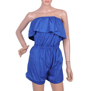 NIBESSER Summer Jumpsuit Rompers Sexy Backless Ruffle Bodysuits & one-pieces Playsuit Female Casual Red Blue Body Femme Z30-cigauy