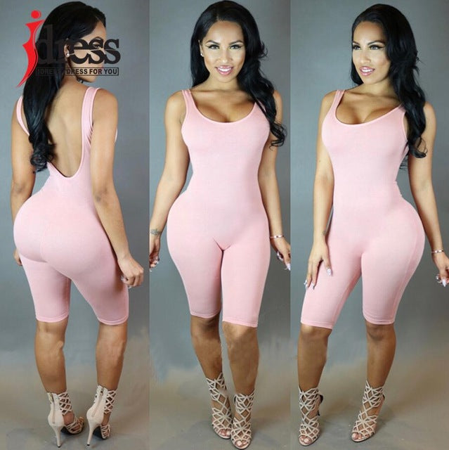 IDress Bodycon Sexy Jumpsuit Overalls Casual Bodysuit Overalls Tank Rompers Womens Jumpsuit Combinaison Femme Club Bodysuit-cigauy