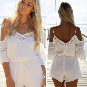 NEW Sexy jumpsuit romper Summer style beach short playsuit Women guaze overalls-cigauy