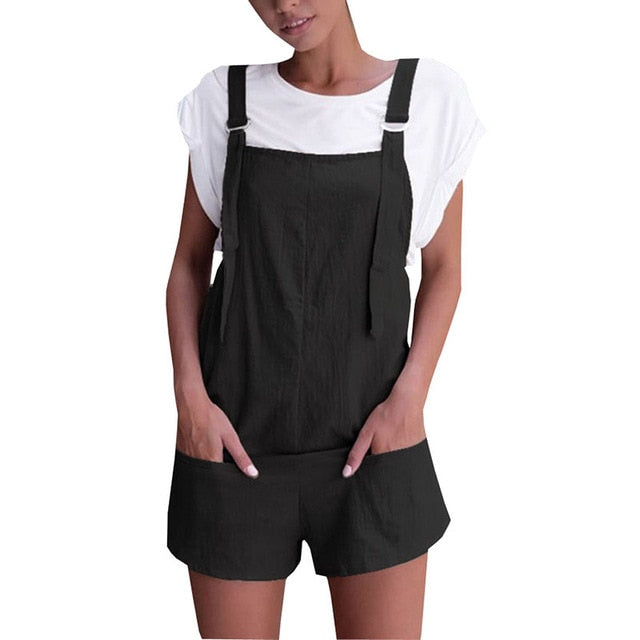 2018 summer Style womens romper Loose Dungarees rompers Loose Rompers Jumpsuit Shorts Pants Trousers mamelucos womens jumpsuit-cigauy