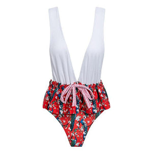 Bikinx Floral print ruffle bikini 2018 summer bathers bathing suit Padded swimsuit push up swimwear female Sexy micro bikini set-cigauy