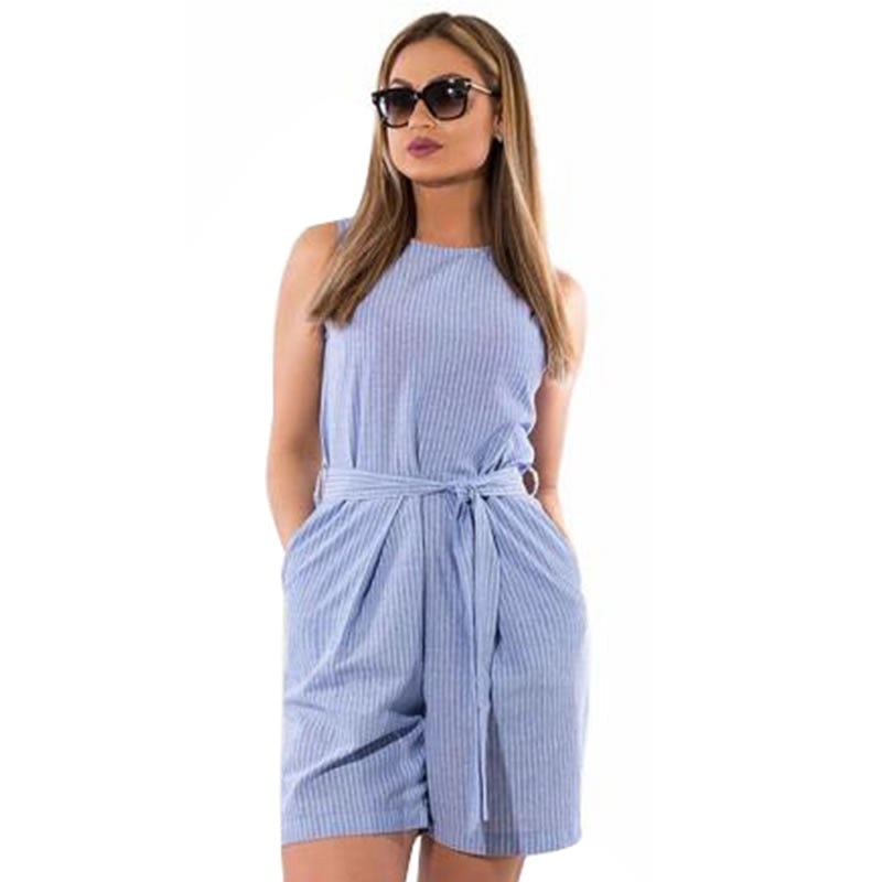 2018 Summer rompers womens jumpsuit striped playsuit 5XL 6XL plus size jumpsuit shorts overalls for women combinaison femme-cigauy
