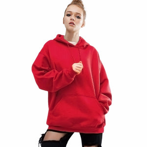 ISHOWTIENDA Hoodies Women Plus Size 5XL Red Sweatshirt Women 2018 Autumn Winter Coat Pullover Casual Loose Sweat Femme Sudadera-cigauy