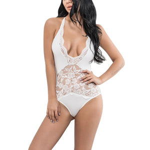 Sexy Backless Lace Bodysuit Romper Women Perspective Skinny Fringe Jumpsuit Romper Women Summer Party Playsuits overalls-cigauy