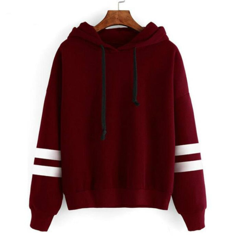 2018 Autumn Women Hoodie Casual Long Sleeve Hooded Pullover Sweatshirts Hooded Female Jumper Women Tracksuits Sportswear-cigauy