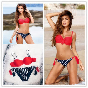 Sexy Bikinis Women Swimsuit 2017 Summer Low Waisted Bathing Suits Halter Top Push Up Bikini Set Plus Size Swimwear XXL-cigauy