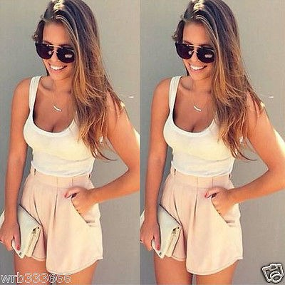 women 2017 Summer 2 Pieces Clothes Set Women Short Sleeve Shorts and Crop Tops Casual Outfits-cigauy